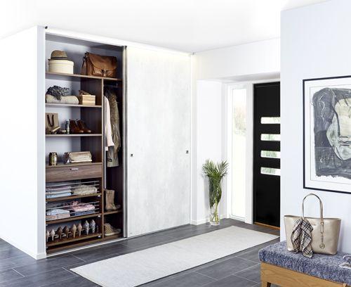Solid betong skjutdörrar till garderob