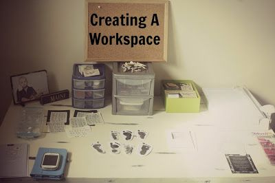 Creating a Workspace and DIY Studio Backdrop #onelittlechickadee #blogpost #diy #workspace