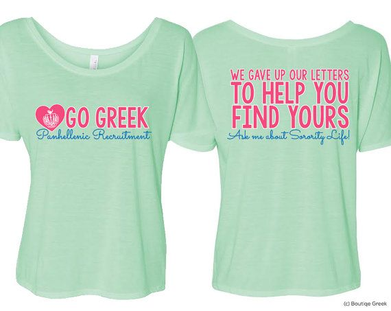 NPC Flowy Gave Up Our Letters Panhellenic Sorority Recruitment Counselor Tee