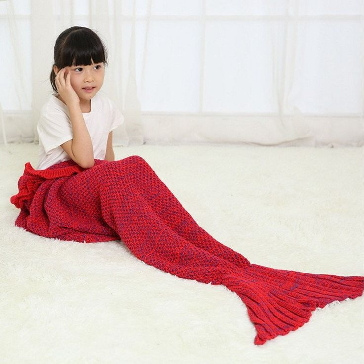 Get Warm And Comfy With Your Kid With This Fun And Versatile Blanket! This fun, cozy, and comfy, knitting tail mermaid blanket is JUST like a sleeping bag and perfect for the couch, camping, bed, or c