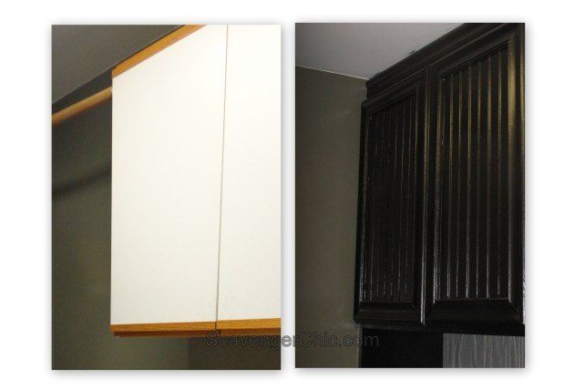 refacing oak and laminate cabinets diy, diy, how to, kitchen cabinets, laundry rooms, woodworking projects