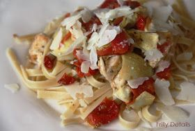 Frilly Details: Roasted Tomato & Artichoke Heart Pasta