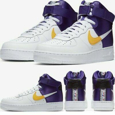 Ad(eBay Url) Nike Air Force 1 High '07 LV8 NBA LAKERS
