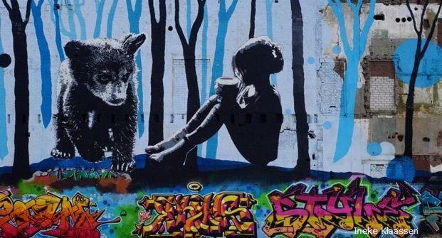 homepagefoto Nijmegen street art Waalbandijk foto Ineke Klaassen maart 2016