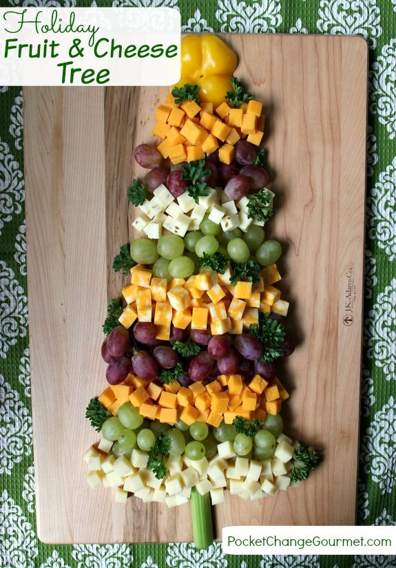 This festive Fruit and Cheese Tree makes the perfect addition to your Holiday Appetizer Bar! Pin to your Recipe Board!