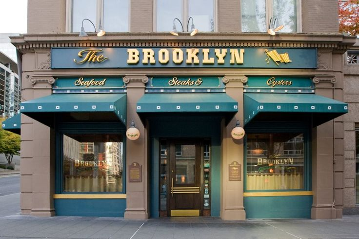 11 Classic Restaurants Every Seattleite Must Try - Eater Seattle - The Brooklyn Seafood, Steak & Oyster House, 1212 2nd Ave, Seattle, WA 98101 - The Brooklyn's enormous downtown restaurant has served steaks and seafood in an upscale setting for more than 25 years. There's also a substantial oyster bar and a reliable happy hour.