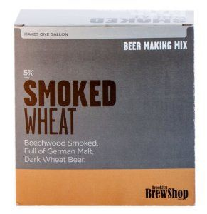 Brooklyn Brew Shop Beer Making Mix, Smoked Wheat by Brooklyn Brew Shop. $15.00. Our dark wheat beer is full of beechwood-smoked malt and German wheat making for a rich weizen body with a smooth roasted finish. Requires 1 Gallon Beer Making Kit. Makes 1 gallon of beer (9-10 12-ounce bottles). 6-Percent alcohol by volume. Written and Video Instructions Available at brooklynbrewshop.com/instructions. If you can make oatmeal, you can make beer. Brooklyn Brew Shop's apartment frie...