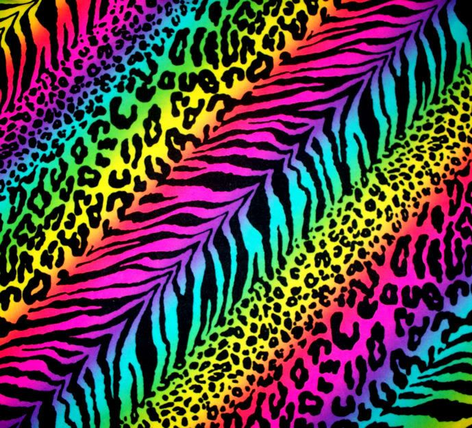 Neon rainbow animal print backgrounds