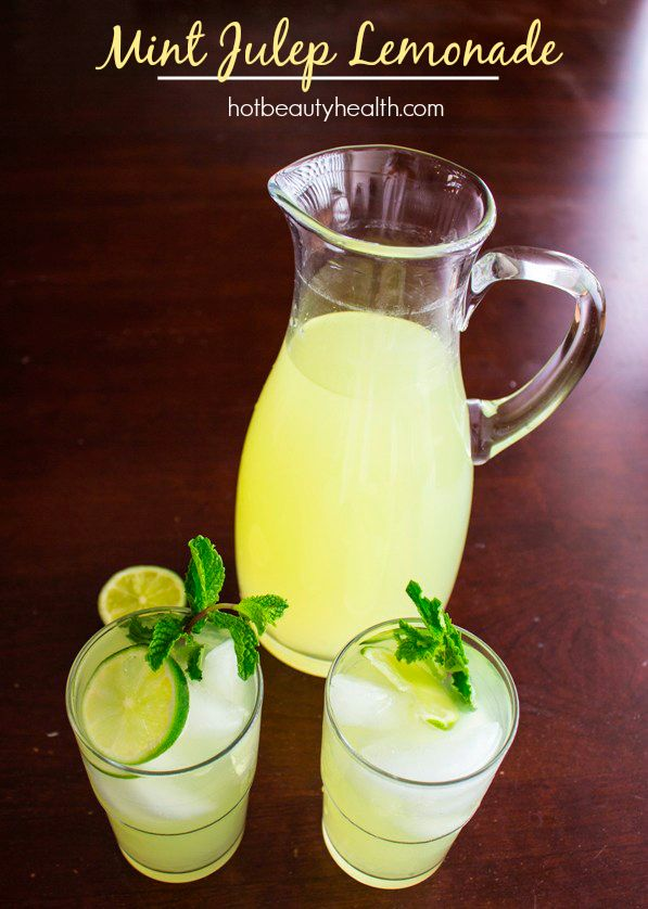 This drink is a must-have for Derby Day! #KentuckyDerby http://www.hotbeautyhealth.com/food/kentucky-derby-recipe-mint-julep-lemonade/