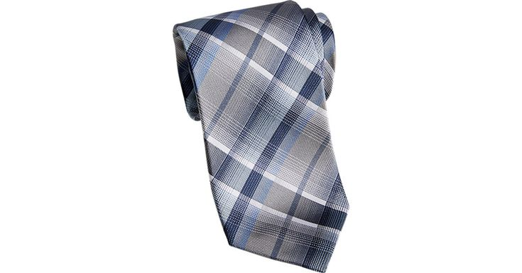 Check this out! Awearness Kenneth Cole Blue Plaid Extra Long Narrow Tie - Extra Long Ties from MensWearhouse. #MensWearhouse