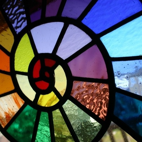 Stained glass, I like stained glass.: Glasses Work, Spirals, Stainedglass, Beach House, Stained Glasses Panels, Glasses Art, Glasses Windows, Colors Glasses, Rainbows Snails