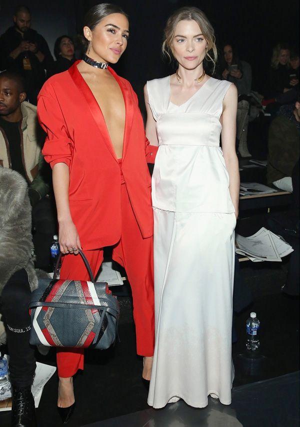 Olivia Culpo e Jaime King na fila A da NYFW.