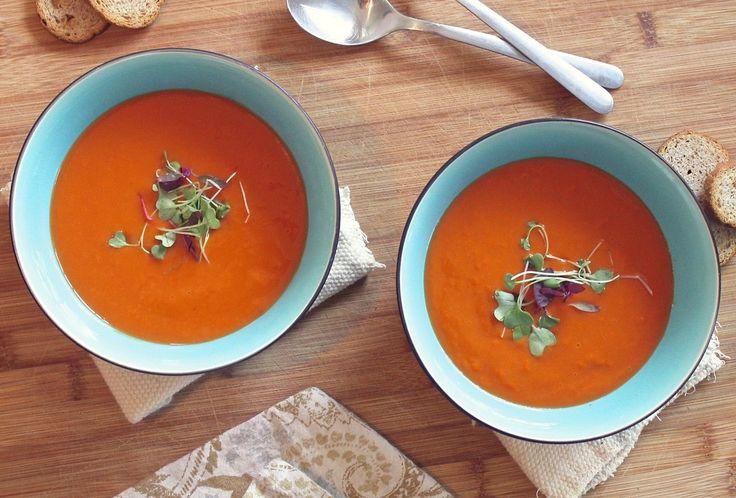 Instant Pot Rezept: Kartoffel-Möhren Suppe für 4 Personen in 15 Minuten zubereitet. Mit dem Schnellkochtopf und Multikocher Instant Pot möglich.