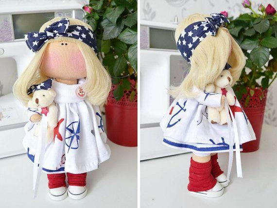 Tilda la muñeca hecha a mano muñeca amor arte por AnnKirillartPlace