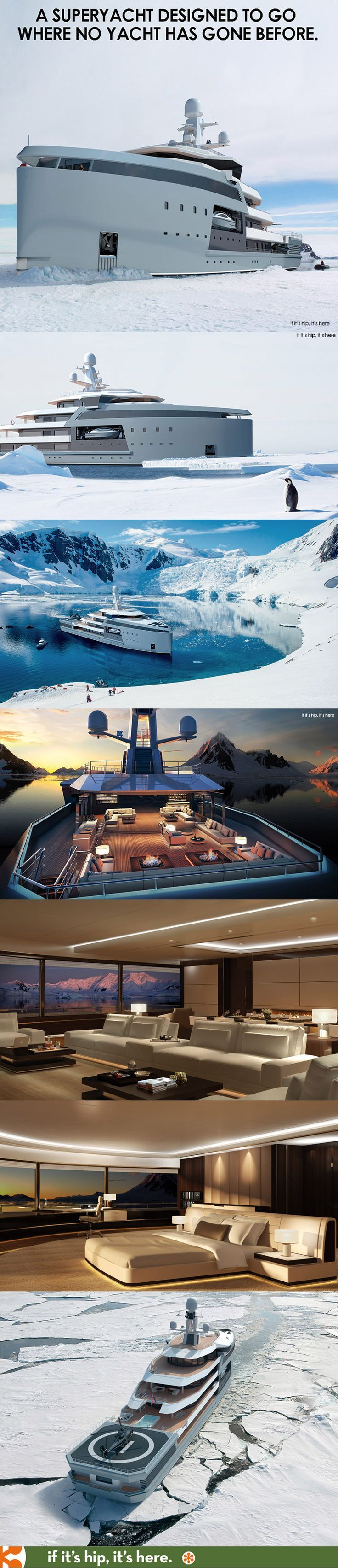 Designed to travel anywhere in the world, even through the polar regions, the Sea Explorer range are expedition yachts with an optimized hull for ice-breaking and a luxurious interior for comfort.