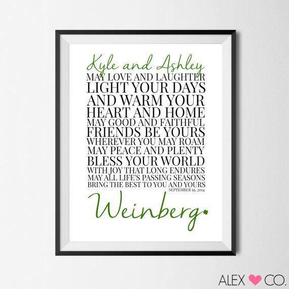 Printable Quotes, Irish Marriage Blessing, Irish Wedding, Irish Printable, Irish Wedding Gift, Irish Anniversary Gift, Irish Blessing