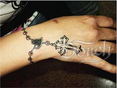 cross hand tattoo women - Google Search