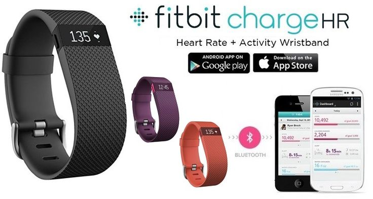 Fitbit Charge HR Wireless Activity and Sleep Tracking Wristband with Built-In Heart Rate Monitor & Free Apps for iOS or Android