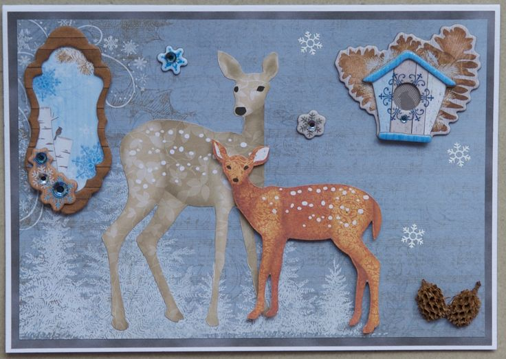 Christmas card 2016:Paper from the Heartfelt Creations Christmas Card collection; Bo Bunny embellishments