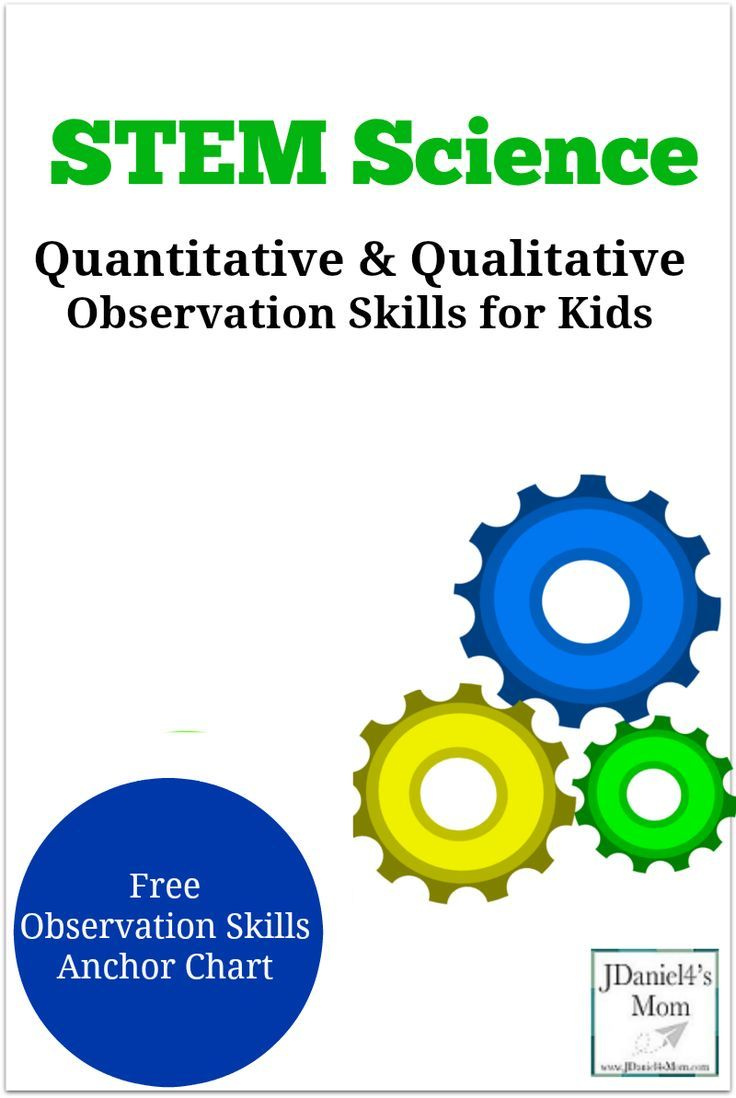 Quantitative and Qualitative Observation Skills for Kids ...