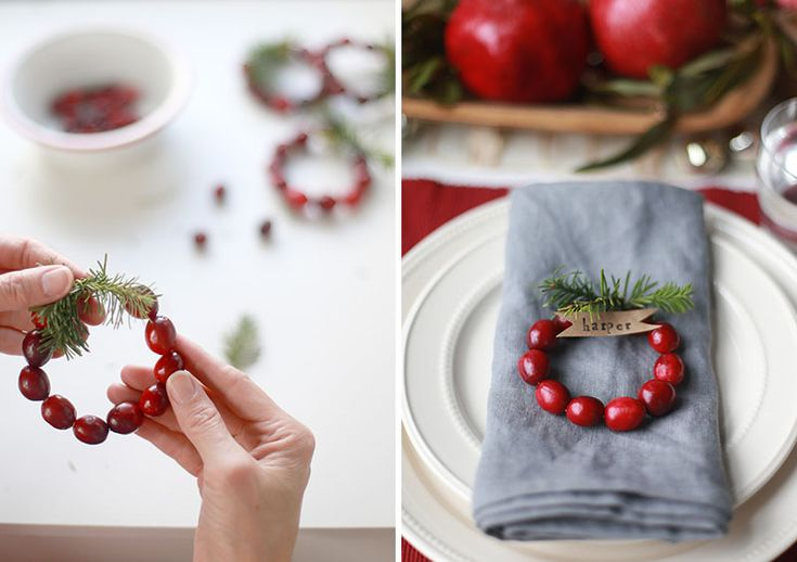 Украшение новогоднего стола: 20 вдохновляющих идей | IVOREE сервировка новогоднего стола декор украшение новый год именные карточки