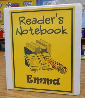 reader's notebook (lots of good information through the link)
