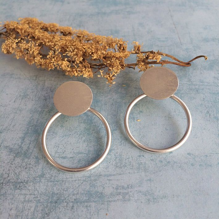 Excited to share the latest addition to my #etsy shop: Stud silver earrings - open circle stud earrings - geometric earrings - circles earrings - contemporary jewelry - geometric jewellery - ring #jewelry #earrings #silver #minimalist #geometric #circle