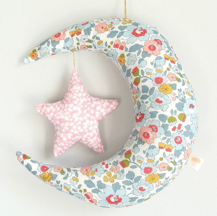 liberty betsy moon and star mobile by little cloud | notonthehighstreet.com