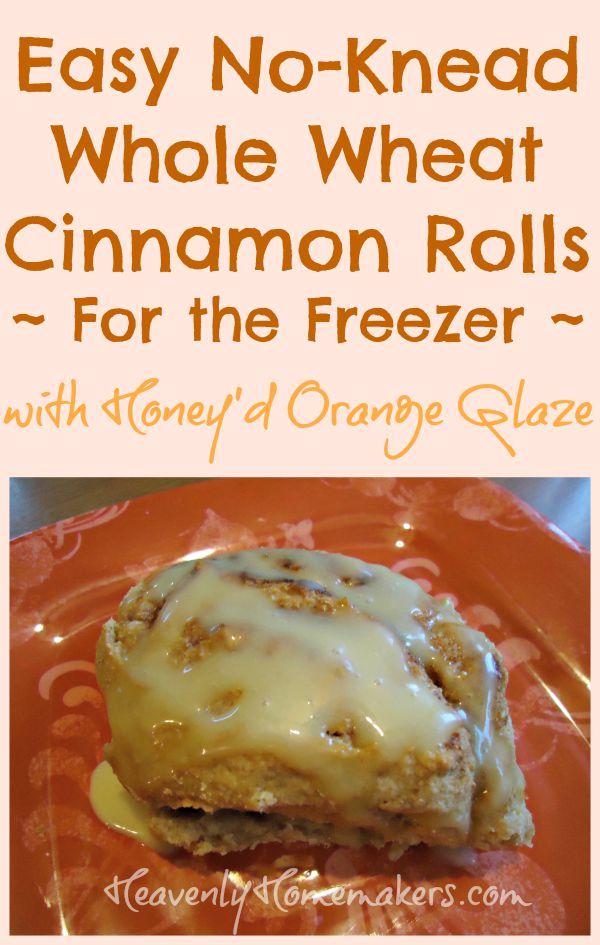 Easy No-Knead Whole Wheat Cinnamon Rolls you can freeze! Plus, a Honey ...