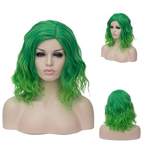 Topwigy Women's Cosplay Wig Medium Length Curly Fashion H...