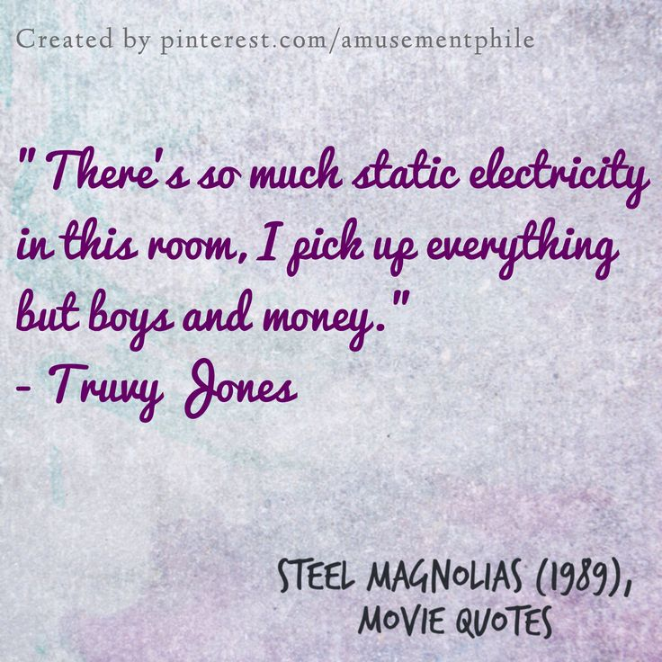 Static electricity ~ Steel Magnolias (1989) ~ Movie Quotes #amusementphile