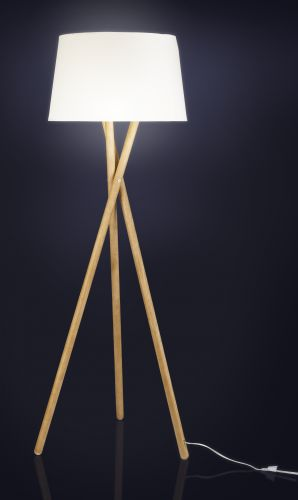 lampadaire tripode wood scandinave