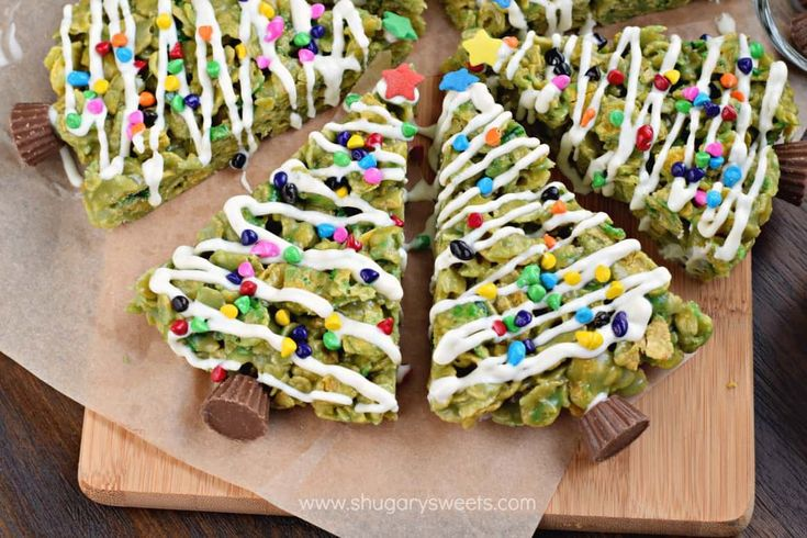 Only the best ingredients combine to make this recipe for HOLIDAY Scotcheroos! How adorable are these Christmas Trees? Plus a chewy, peanut butter treat is always a WIN!