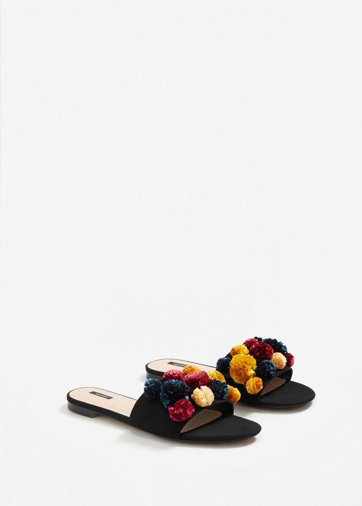 Pompom sandals -  Woman | MANGO Slovakia