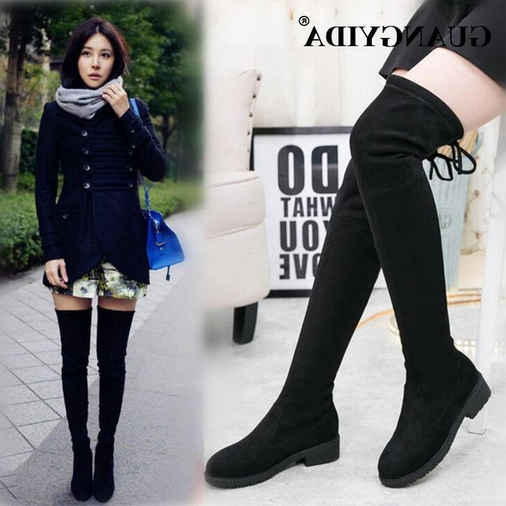 1000  ideas about Womens Thigh High Boots on Pinterest | Black