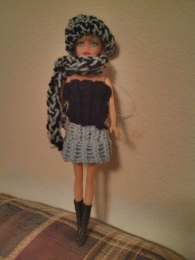 Loom knitting for Barbies | Loom Knitting | Loom Knitting ...