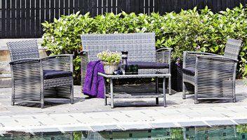 Loungeset GERONA staal/petan | JYSK #JYSK #Tuin #Tuinmeubelen #Loungeset