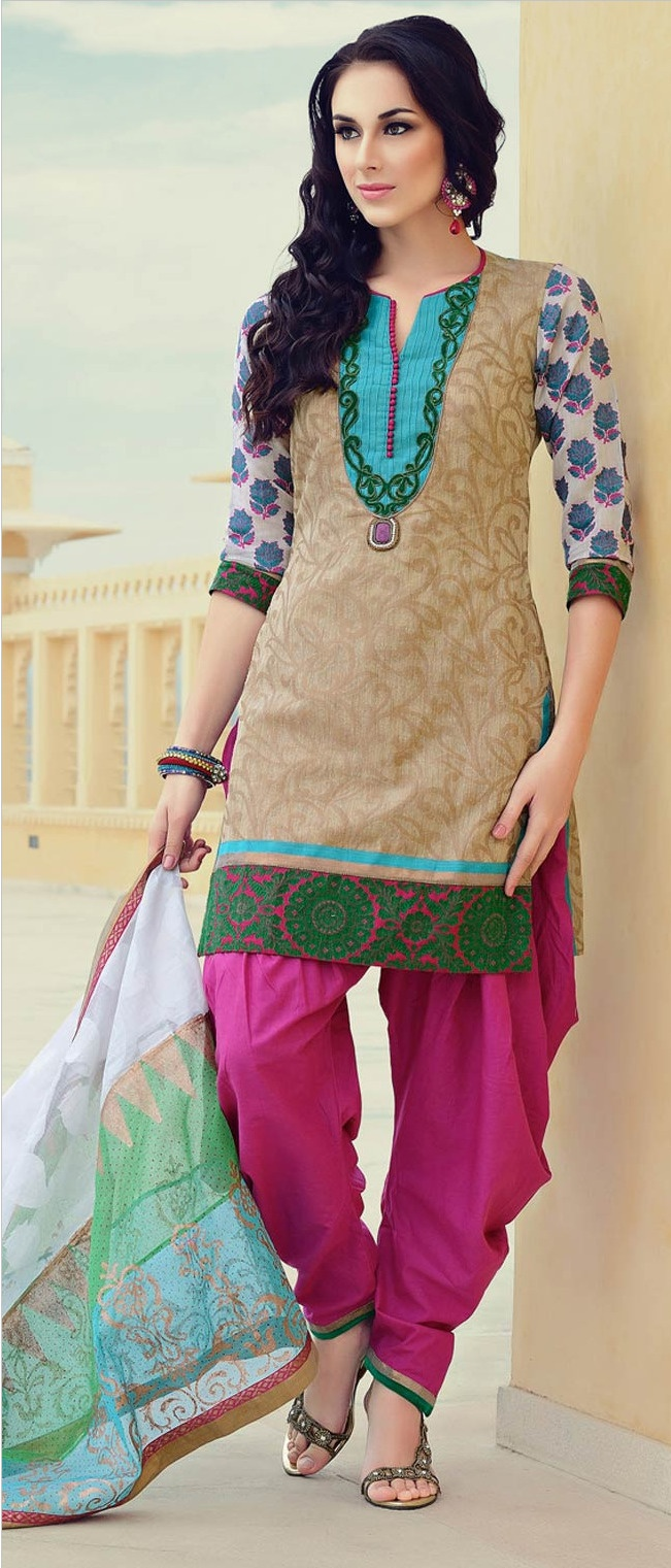 Fawn #Cotton #Salwar Suit @ $131.61