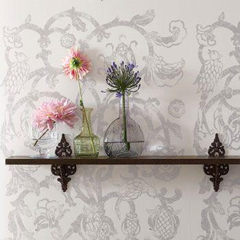 Pretty shelf bracketsDecor Crafts, Bronze Shelf, Open Shelves, Business Inspiration, Brackets Inspiration, Shelf Brackets, Decor Support, Mantles Shelf, Brackets Sources
