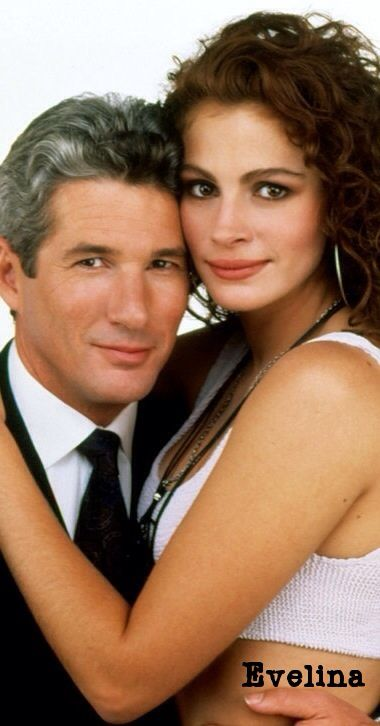 """Richard Gere and Julia Roberts in """"Pretty Woman,"""" 1990"""
