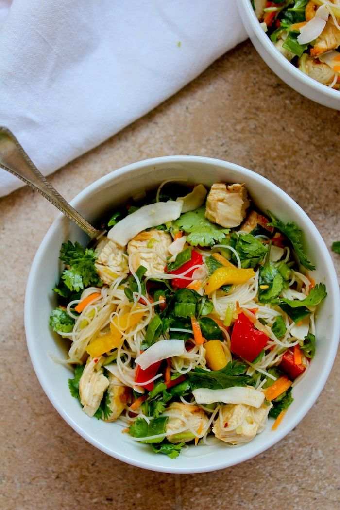 Chicken & Rice Noodle Salad