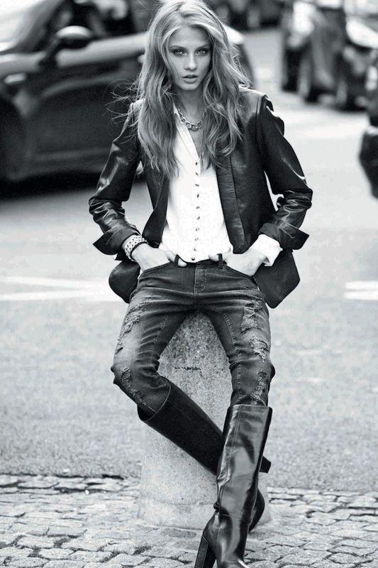 Rocker Fashion   Click to enlarge image Mango-Autunno-Inverno-2012-2013-Grunge-Rock-07 ...
