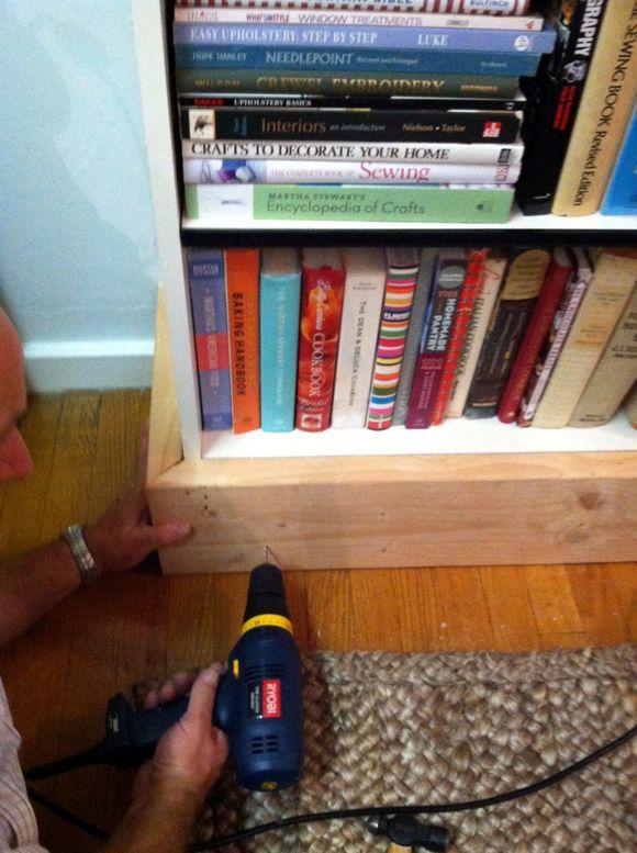 Little Green Notebook Making Billy Bookshelves Look Like Built Ins
