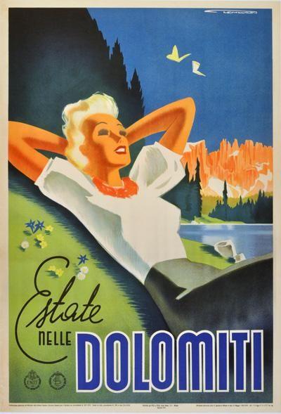 Dolomiti - Italy by Franz Lenhart 1940