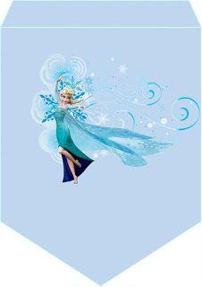 Mini Kit para Cumpleaños de Frozen para Imprimir Gratis.