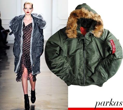 Fur trimmed parkas- check!
