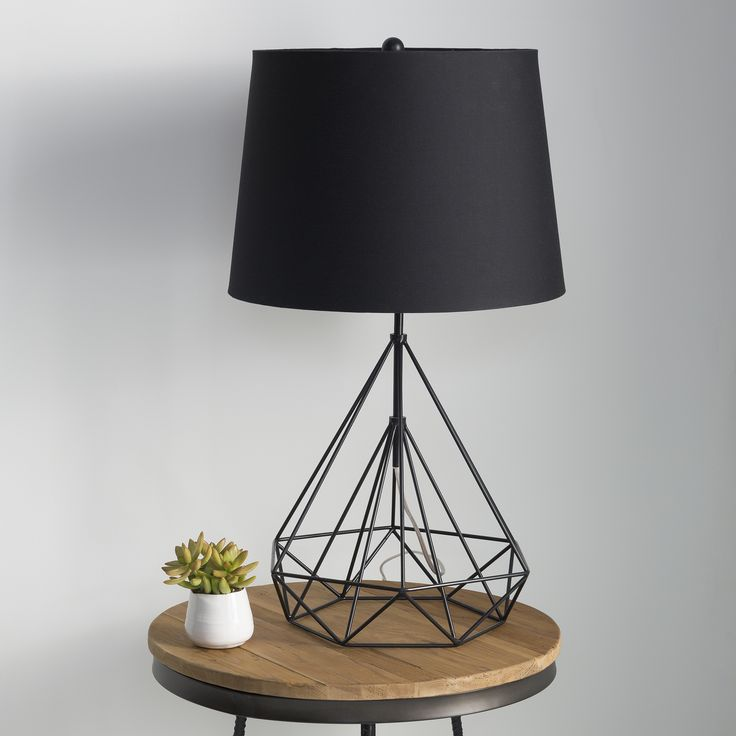 A Trailblazing Modern Design The Fuller Table Lamp Is Characterized By Its Playful Geometric Lines See Through Base Creates An Expansive Feel