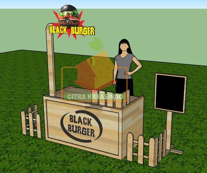 Booth black Burger by citrakreasindo.com.  081272109424/756F8318