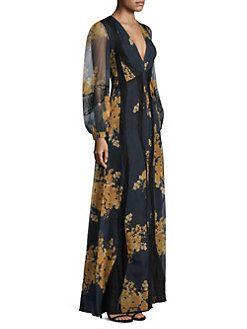 Sachin & Babi - Mumbai Bishop-Sleeve Maxi Dress