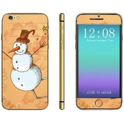 Anti-scratch Phone Sticker Decal Skin with Snowman Style for iPhone 6 - 4.7 inches